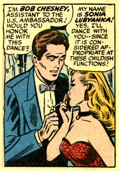 'Communist Kisses' - Comrade Sonia at the diplomatic ball