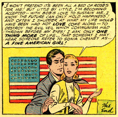 Confessions of the Lovelorn's 1954 story 'Communist Kisses' - the final panel