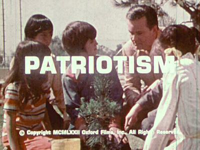 Patriotism - Short subject films. This 1972 Art Evans film starred Bob Crane of Hogan's Heroes fame