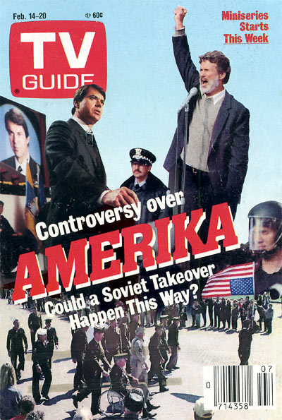 TV Guide cover for debut broadcast of AMERIKA, February 15, 1987