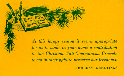 Christian Anti-Communism Crusade's Christmas card