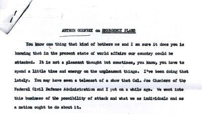 Excerpt from Arthur Godfrey on Emergency Plans