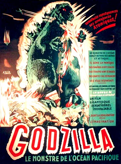 Gojira AKA Godzilla, King of the Monsters - the French release poster