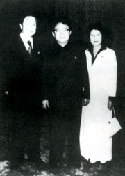 Kim Jong Il and kidnap victims actress Choi Eun Hee and director Shin Sang Ok